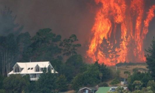 В новейшей Зеландии эвакуировали неменее тысячи человек из-за лесных пожаров